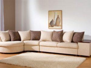 Перетяжка углового дивана на дому в Ульяновске